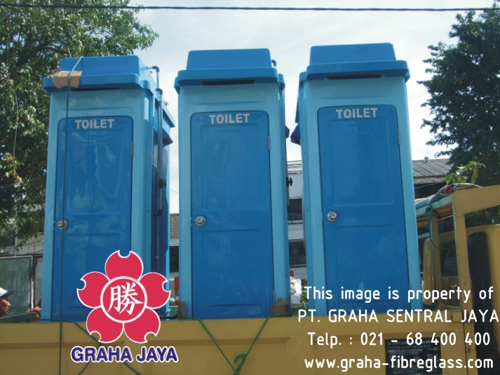 Toilet Portable Fibreglass Tipe B - Graha Jaya
