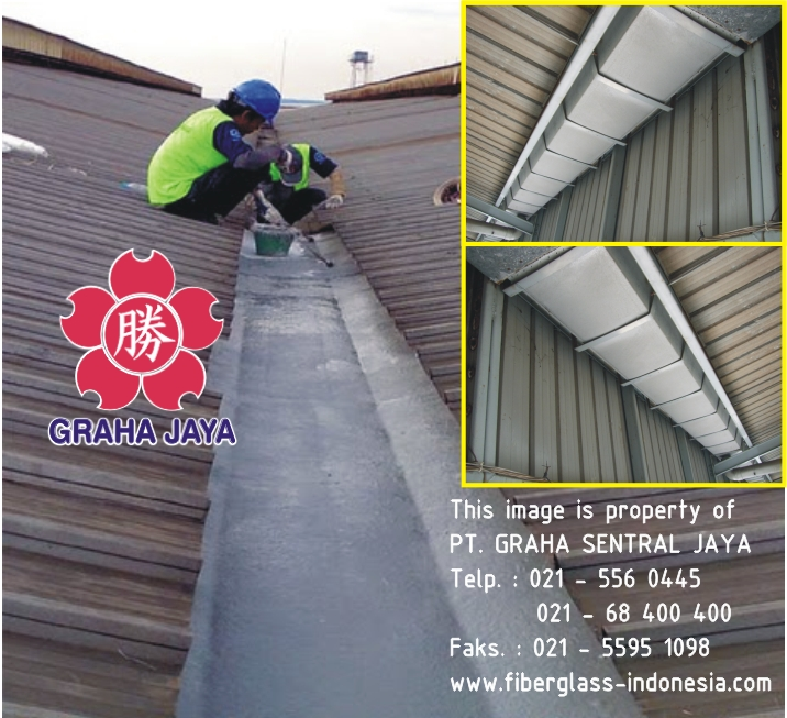 Talang air fibreglass project industri di pulogadung